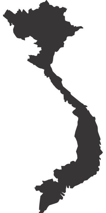 Image vectorielle gratuite: Vietnam, Carte, Silhouette