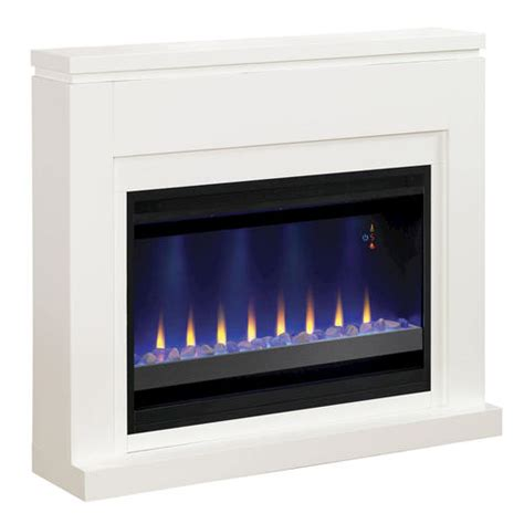menards fireplaces electric 48 quot white electric fireplace at menards 174