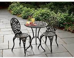 Cast Iron Patio Set Table Chairs Garden Furniture Cast Iron And Aluminum Bistro Set Traditional Outdoor Pub And Bistro Sets By Kmart