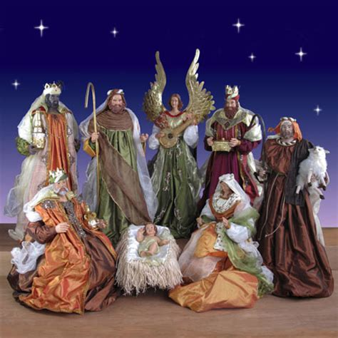 where to get life nativity set size nativity 9 set in resin and fabric