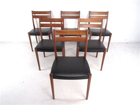mid century modern dining room sets mid century modern scandinavian teak dining set with