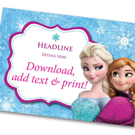 frozen printable etsy disney frozen invitation printable instant download
