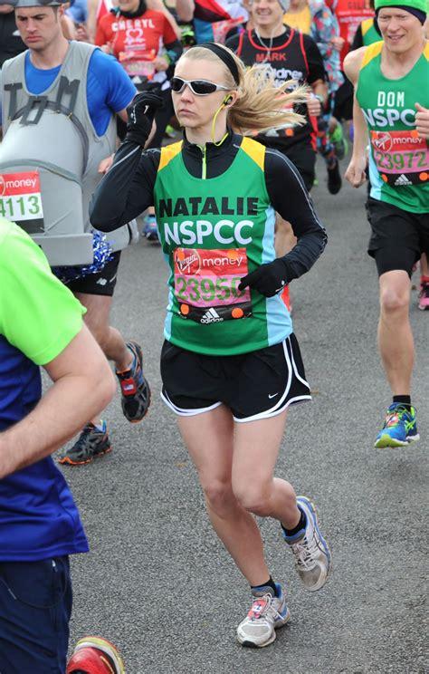 natalie dormer marathon natlie dormer running at money marathon in