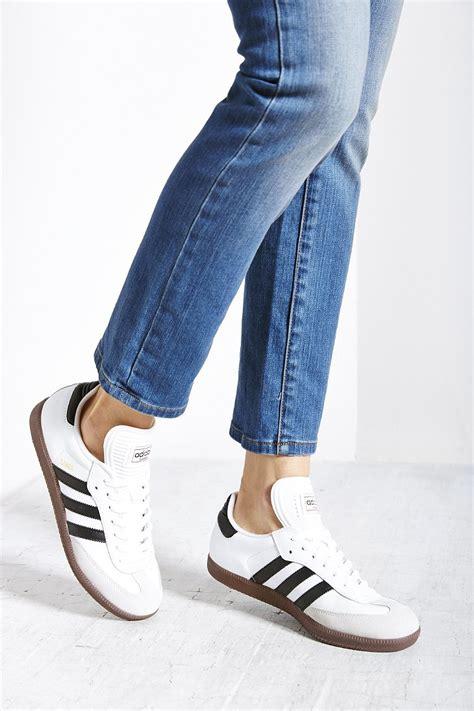 White Original adidas originals samba sneaker in black lyst