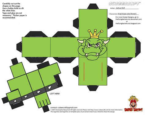 Bowser Papercraft - bowser papercraft pictures to pin on pinsdaddy
