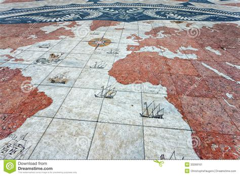 Floor World by World Map In Belem Lisbon Stock Image Image 33268161