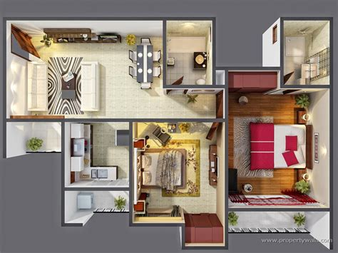 tiny house floor plans small residential unit 3d floor 3d small house plans morpheus green sector 78 noida