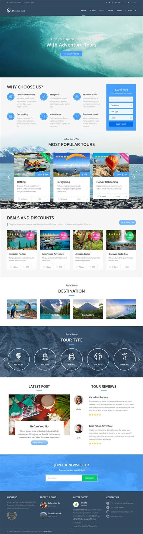 themeforest travel agency adventure tours travel agency and tour operator on pinterest
