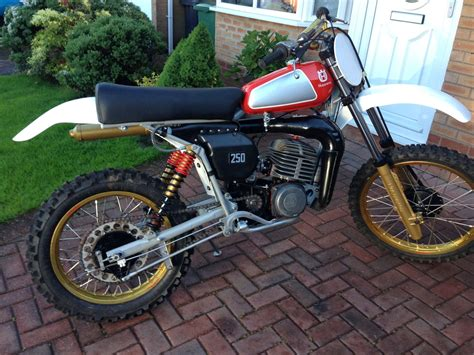 Shock Ohlins 250 husqvarna cr 250 1978 shock with rebuilt ohlins shocks and 40mm forks