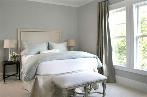blue gray paint colors transitional bedroom martha stewart cumulous clouds