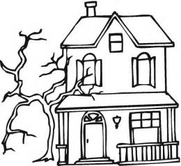 halloween coloring pages of a haunted house download