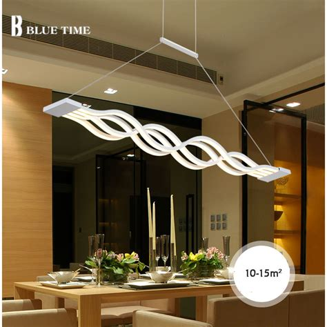 Hanging Ceiling Lights For Kitchen New Creative Modern Led Pendant Lights Kitchen Acrylic Metal Suspension Hanging Ceiling L For