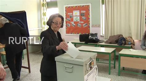 cyprus anastasiades casts vote on presidential polling