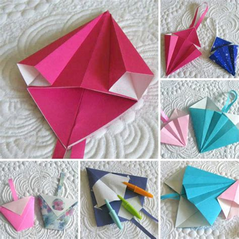 Origami Bag Pattern - fabric origami bag patterns sew origami folded pockets