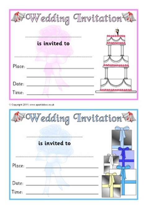 design a wedding invitation ks1 weddings teaching resources printables for primary