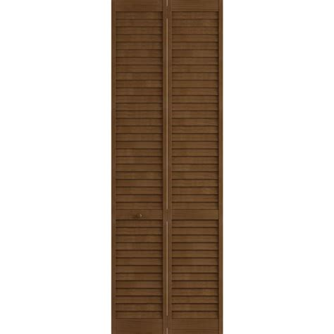 Home Depot Louvered Closet Doors Frameport 36 In X 96 In Louver Pine Espresso Plantation Interior Closet Bi Fold Door 3115461
