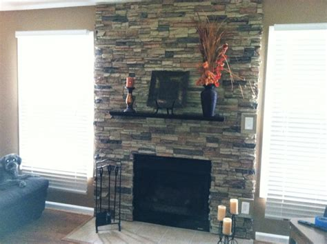 How To Put On A Fireplace by Faux Accent Walls Traditional Living Room New
