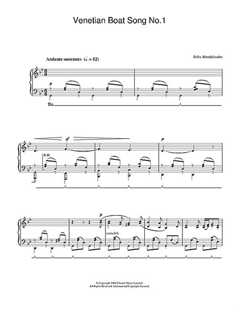 venetian boat song no 1 felix mendelssohn venetian boat song no 1 sheet music