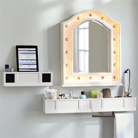 bathroom mirrors with shelf hannah beauty mirror shelves bathroom mirrors other