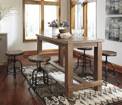 how high is a counter height table 5 counter table set with industrial style adjustable
