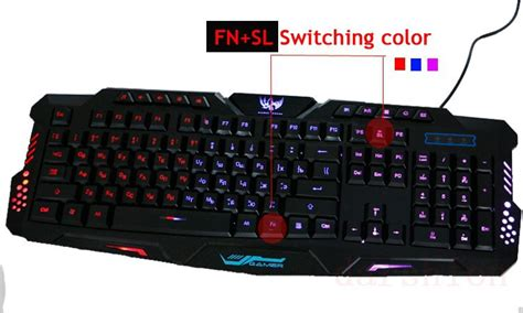 Keyboard Gaming Pb the three color light emitting usb cable backlight