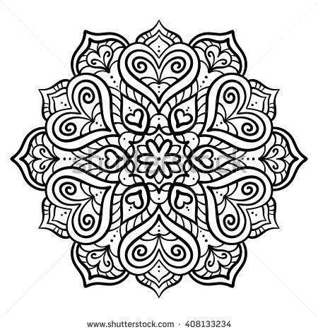 decor element vector black white illustration stock vector