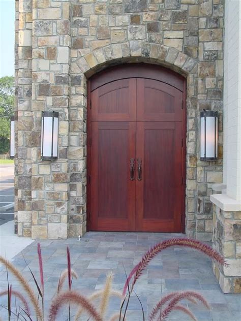 beautiful double mahogany doors