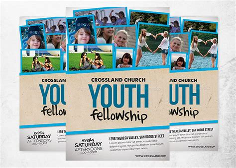 youth day invitations flyers youth fellowship church program church print templates