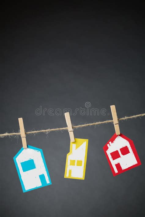 size paper houses stock photo image  home