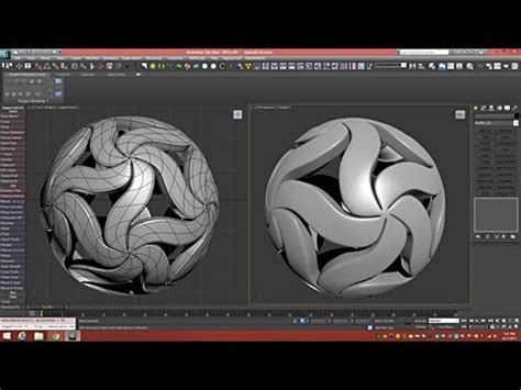 how to make 3d star and balls 3d tutorial floral technique 3dsmax