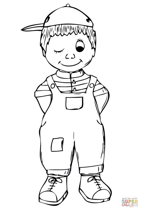 Full Page Coloring Pages Boys Boy Coloring Page
