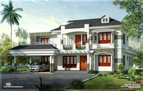 new home designs kerala style new style kerala luxury home exterior house design plans
