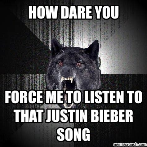 Angry Wolf Meme Generator - angry wolf hates bieber