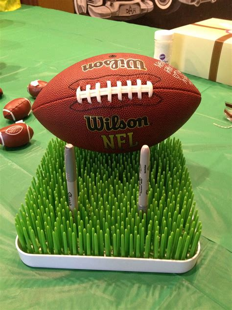 Football Baby Shower Favors by Football Baby Shower Football Guest Book That Each Guest