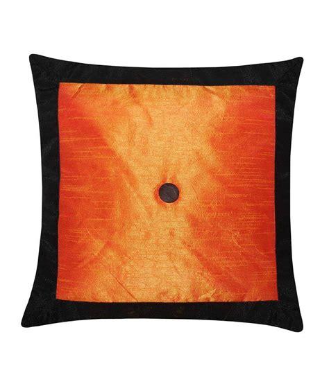Cushion Cover 40x40 Cm zikrak exim applied border black orange cushion cover 1 pc 40x40 cm buy at best