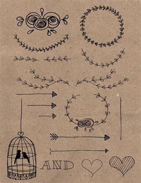 Hochzeitseinladung Zeichnung by Rustic Diy Wedding Invitation Clipart By