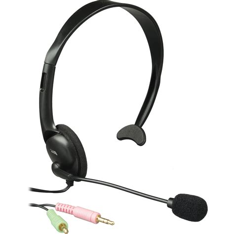 Headset For Pc cyber acoustics ac 100b monaural pc headset ac 100b b h photo