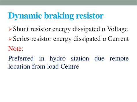 shunt braking resistor transient enhancement technique