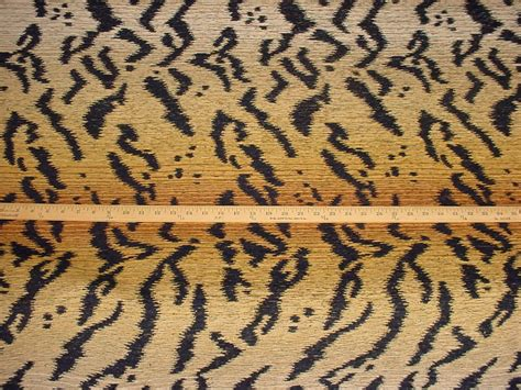 tiger upholstery fabric 17 y decadent tiger stripe tapestry upholstery fabric ebay