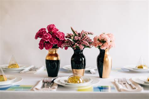 centerpiece for diy wedding centerpieces gilded gold vases