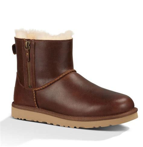 ugg australia boots ugg australia boots classic mini zip chestnut
