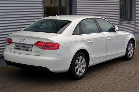 File:Audi A4 B8 Limousine Ambiente 2.0 TFSI Ibisweiß Heck Wikimedia Commons
