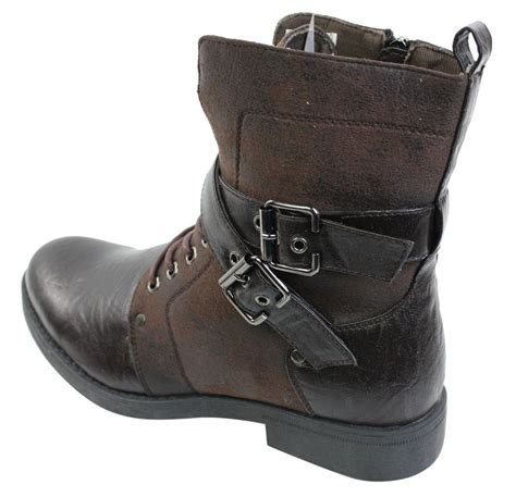 mens black boots with buckles mens rock elmo ankle boots brown black leather
