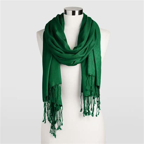 green pashmina style shawl world market
