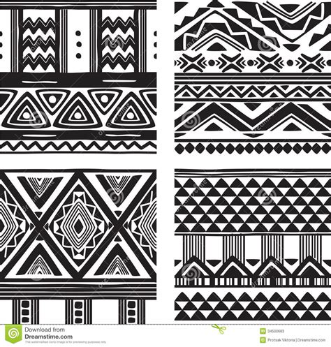 tribal pattern texture set of tribal texture stock photos image 34500683