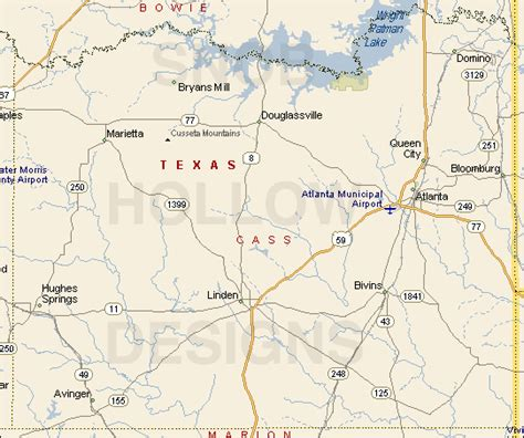linden texas map cass county texas color map
