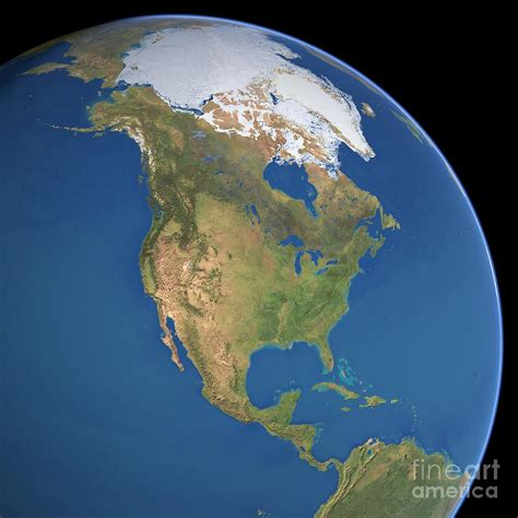 Top Decor Blogs north america satellite image photograph by planetary