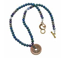 Change Your Probably With An Energy Muse Necklace by Gemstone Of The Day Azurite Energymuse
