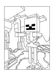 coloring pages of minecraft a minecraft skeleton coloring page minecraft