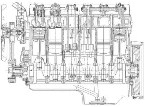 engine cross section diesel engines generators weifang diesel engine limited